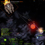 Starsector: Nimble high-tech frigates toting top-line firepower play cat and mouse with a low-tech battleship.