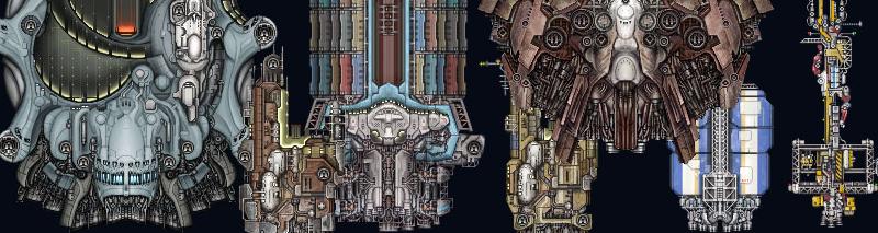 various Starsector ships, 2012ish?