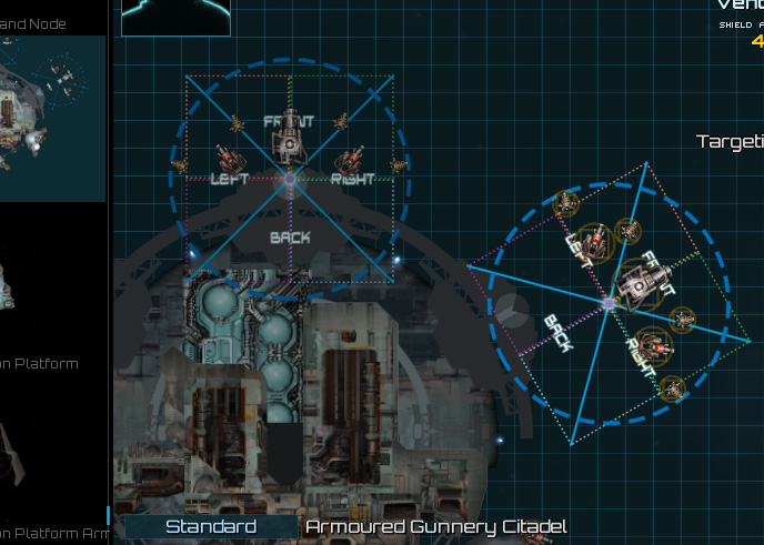 Here I replaced gunnery module sprites with a position/angle guide to help plan station layout.