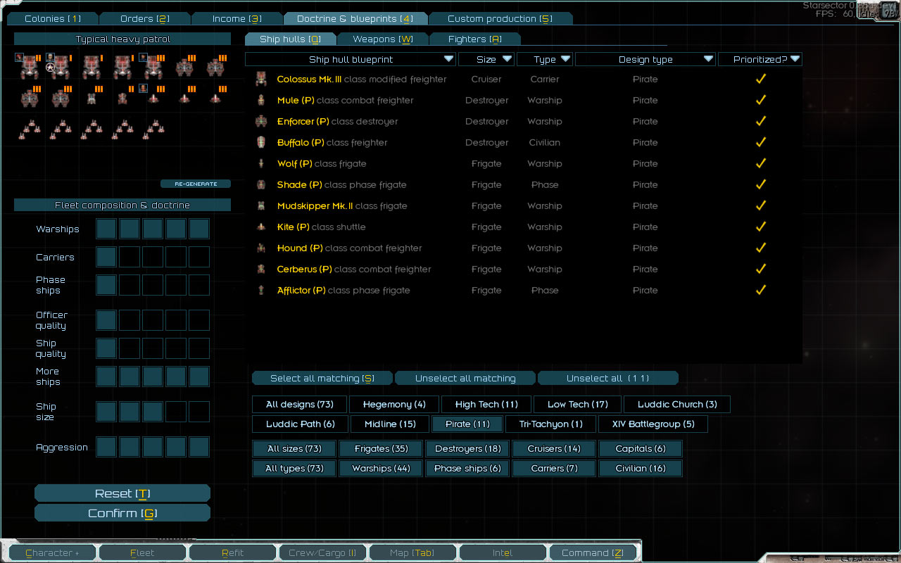 Starsector blueprints doctrine and production composition malvernweather Choice Image